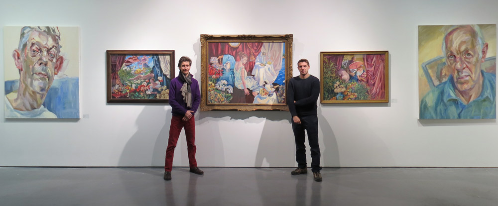 Lachlan Goudie and Tim Benson at joint exhibition at the Mall Galleries