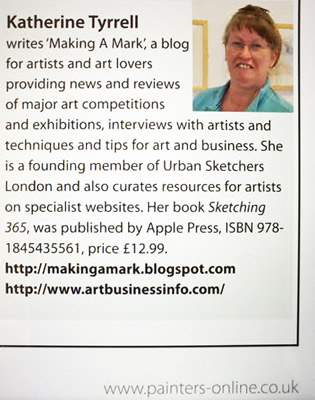 Katherine Tyrrell bio for The Artist Magazine