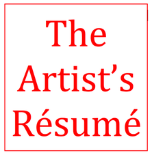 resume for artists art business info for artists