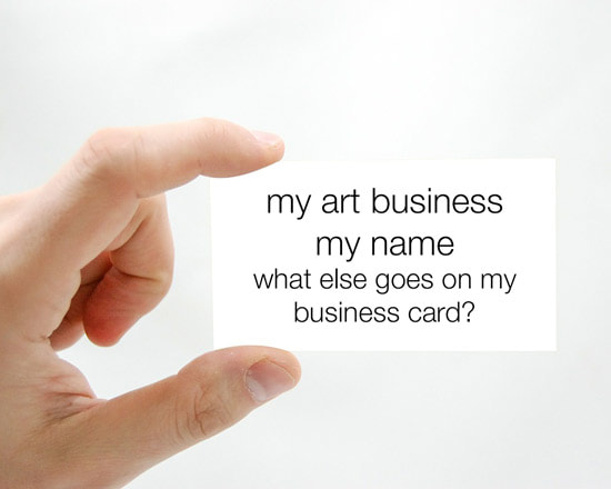 Business Cards For Artists Art Business Info For Artists